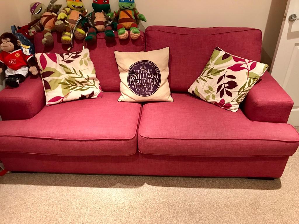 fuschia sofa hillcraft luxury velvet 21 with additional