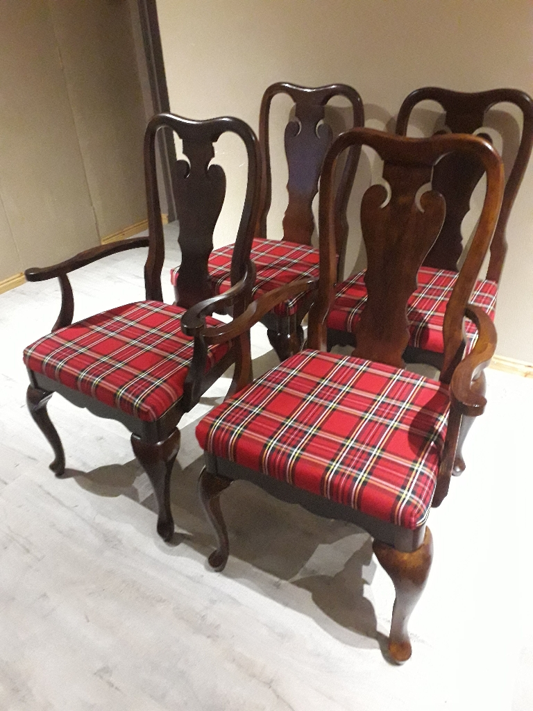 Refurbished Chairs Scottish Tartan Refurbished Chairs
