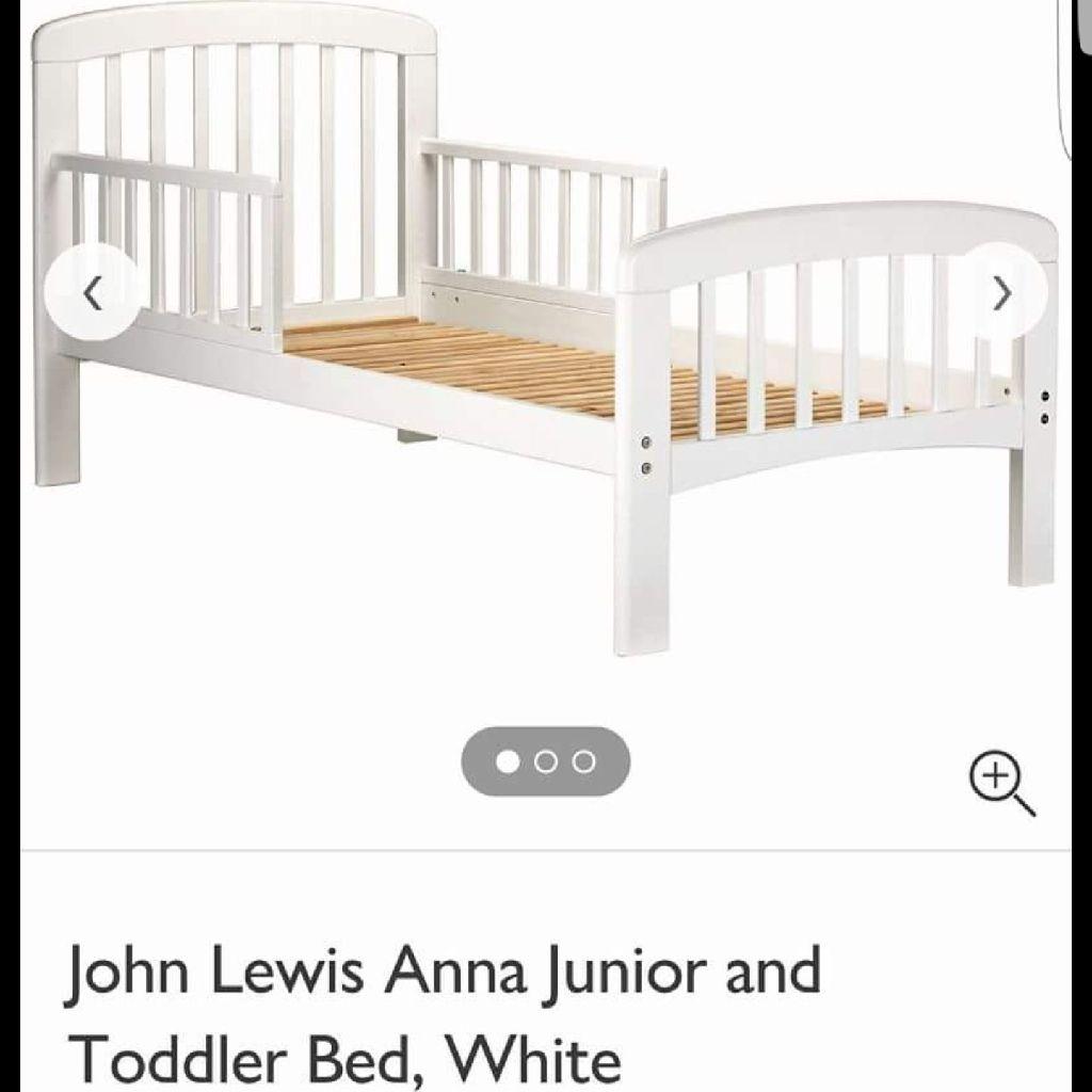 John Lewis White Toddler Bed Mattress Village