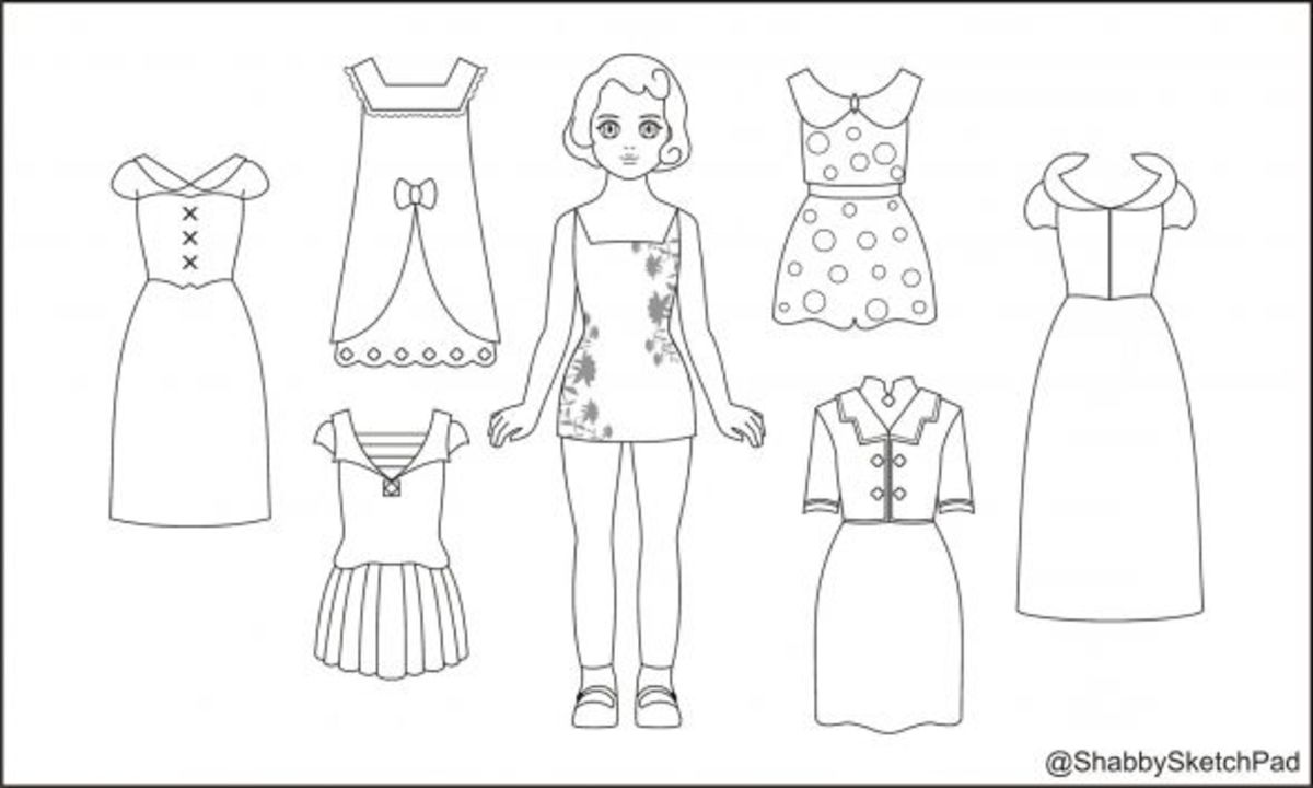 Paper Dolls Coloring Page