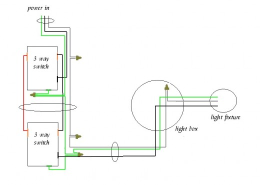 wiring a switch with power through light