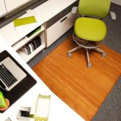 Bamboo Chair Mat Dining Slipcover Floor Mats