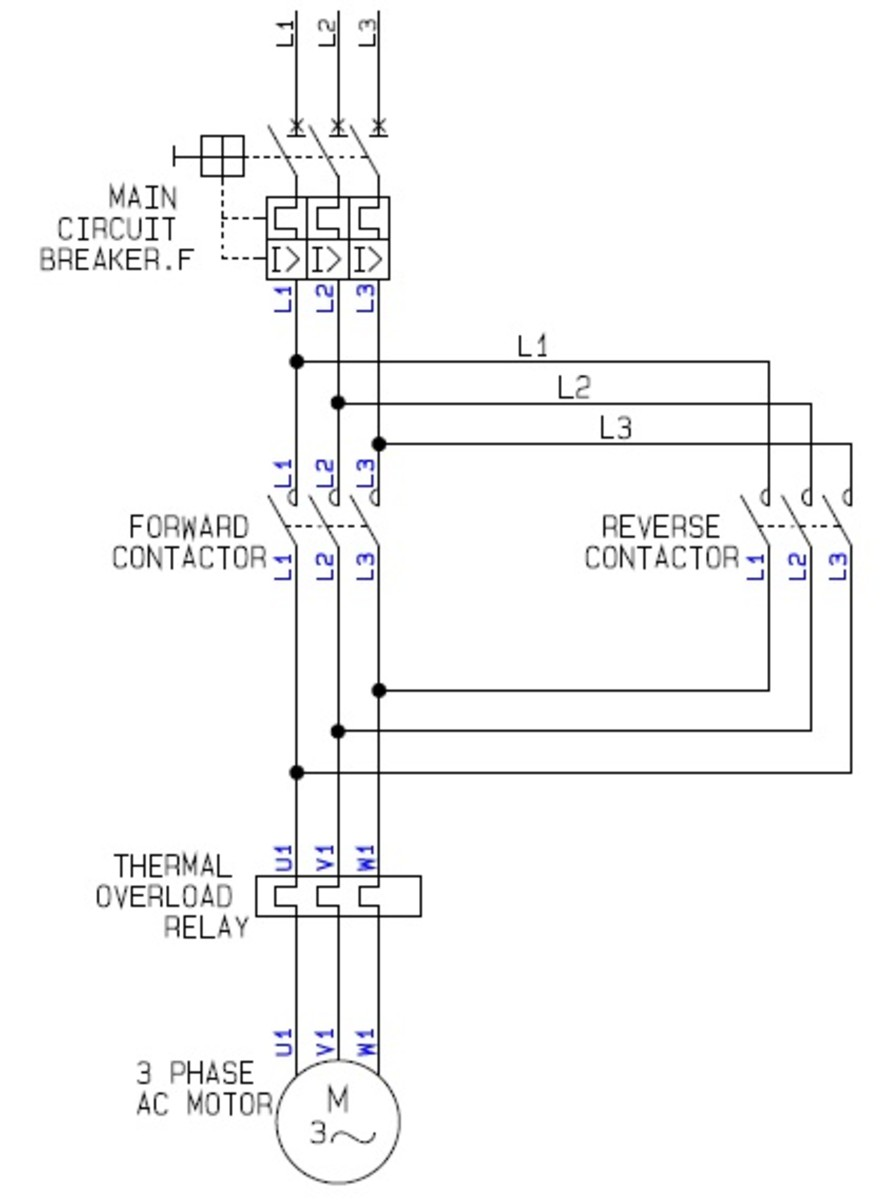 schneider reversing contactor wiring diagram vw beetle coil single phase | get free image about