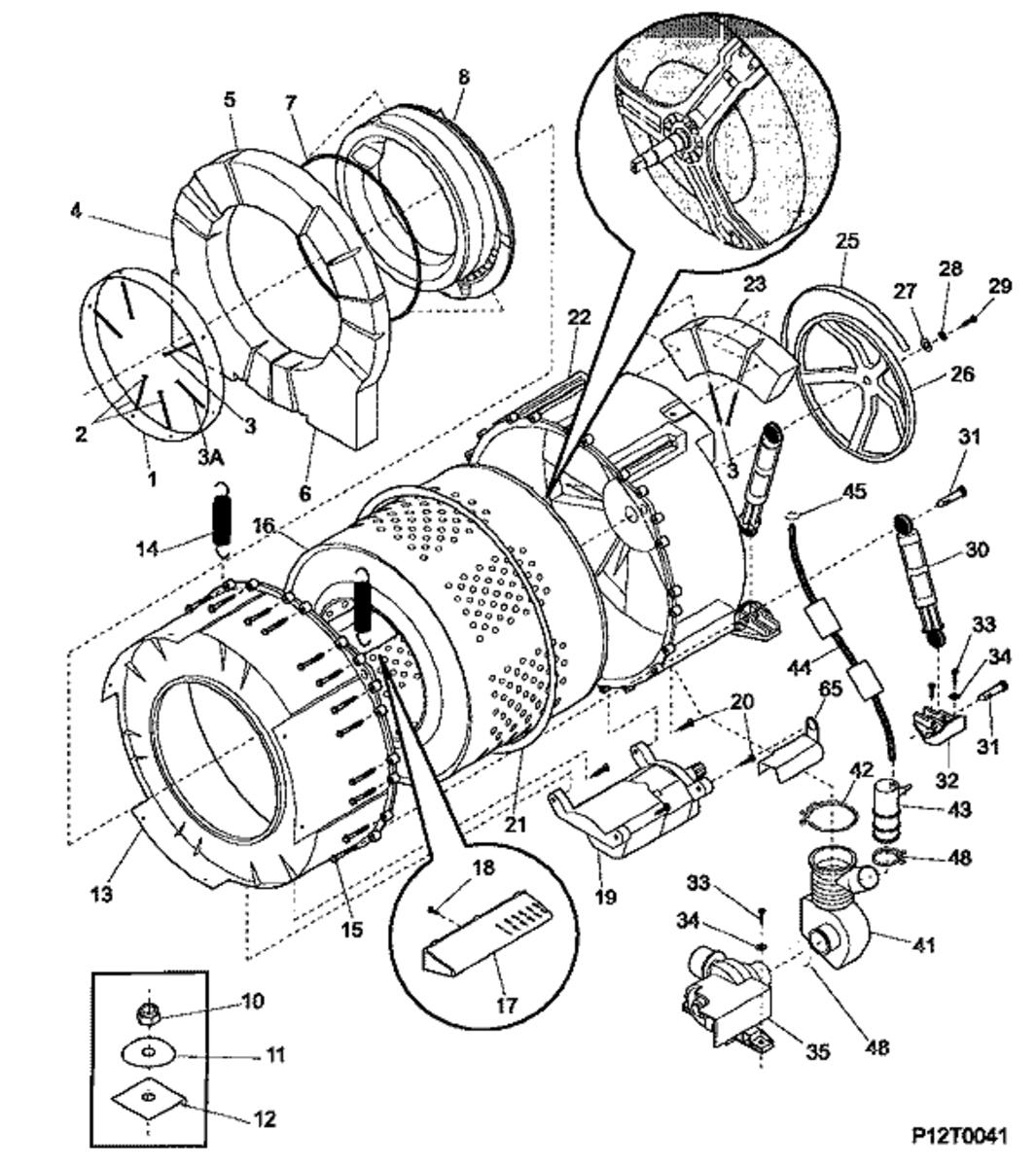 Maytag Washer Motor Ledningsdiagram