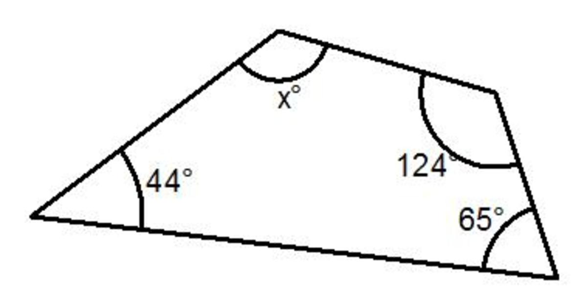 What is the sum of all the angles in a 4 sided shape
