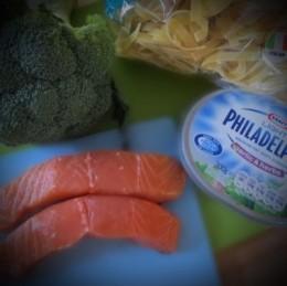 Broccoli Salmon Pasta Ingredients