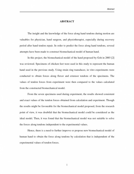 Research Paper Abstract Example Sample Template HubPages