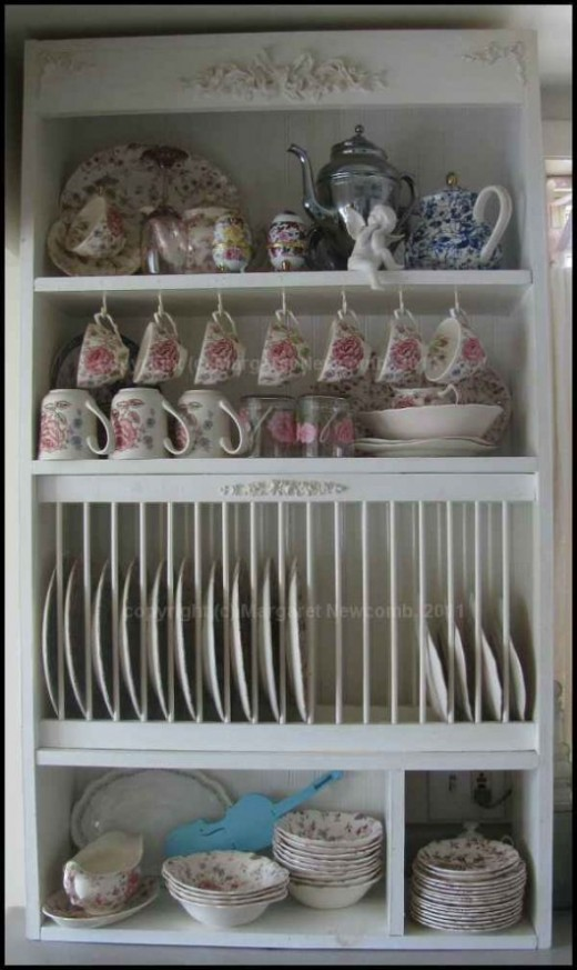 wooden kitchen plate rack cabinet white small table diy project, how to build your own ...