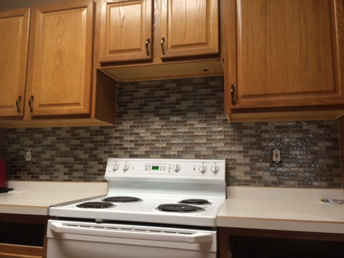 Easy Kitchen Mosaic Tile Backsplash Project Dengarden