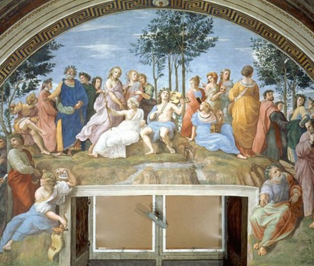 The Parnassus Painting Displays The Muses And Apollo Flanked By Poets It Was Painted By