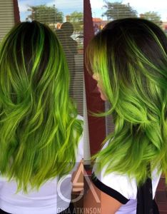 manic panic electric lizard also diy hair green color ideas bellatory rh