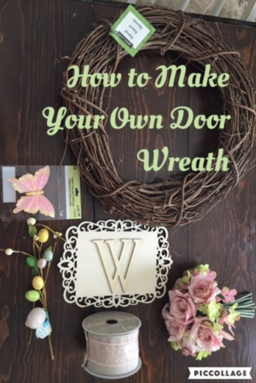 How to Make a Simple Door Wreath  HubPages