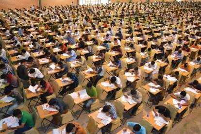 The vast examination hall in Karachi where the Nust Entry test is conducted.