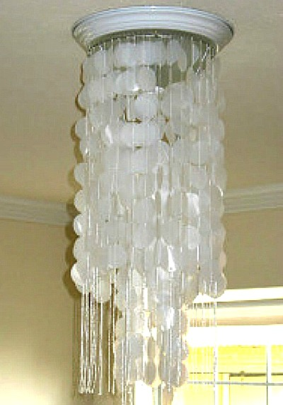 Who Would Believe That This Chandelier Was Made With Milk Jugs See How It Is Done By Going To Shoestring Pavilion For The Directions