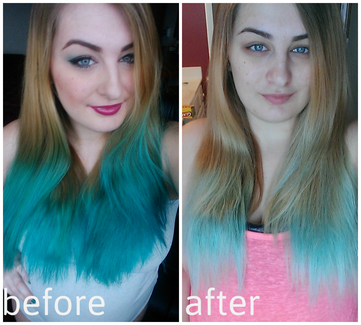Hair Diy How To Fade Stubborn Bright Blue Hair So You Can