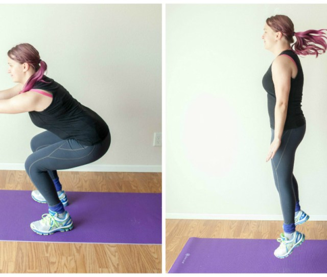 Do A Squat As Above And Add A Jump At The End