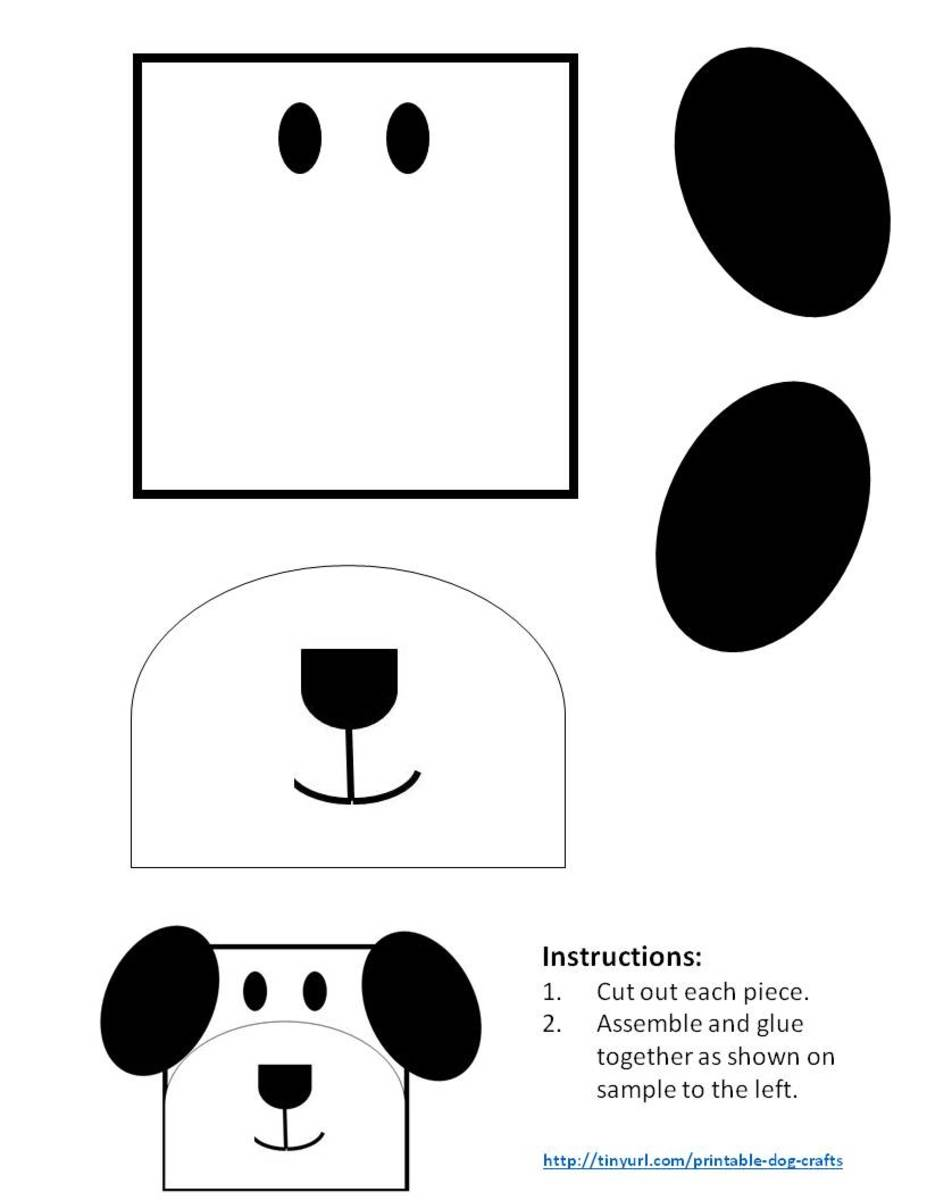 Printable Dog Patterns With Simple Shapes for Kids' Crafts