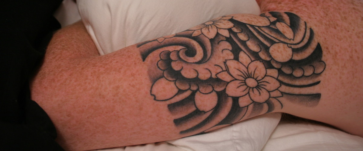 Quarter Forearm Tribal Tattoo
