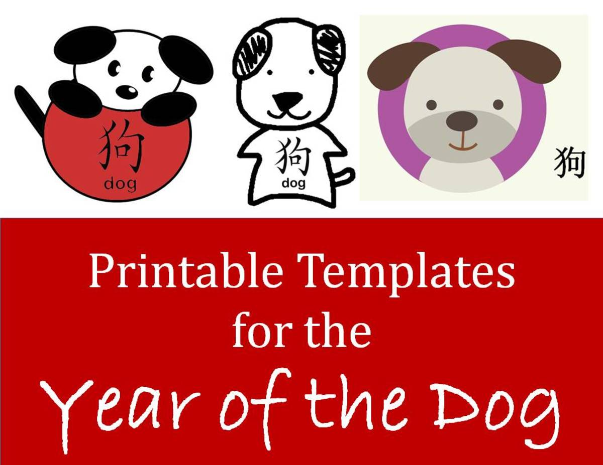 Printable Dog Templates Kid Crafts For Chinese New Year