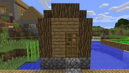 minecraft village own dirt blacksmith roof villages huts structures windows rounded floors source