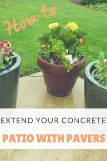 Extend Concrete Patio With Pavers Dengarden
