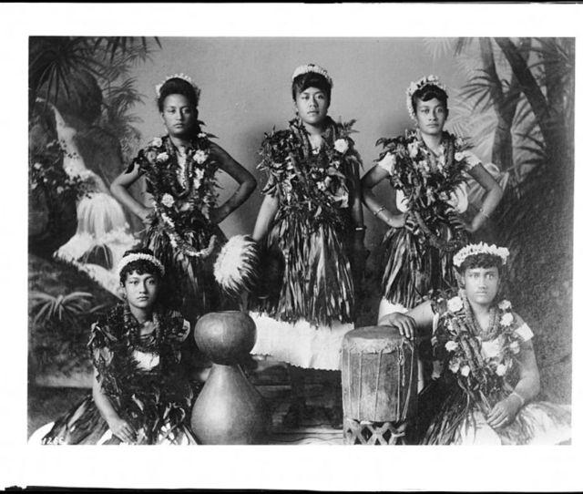 Hawaiian Hula Troupe Circa 1907