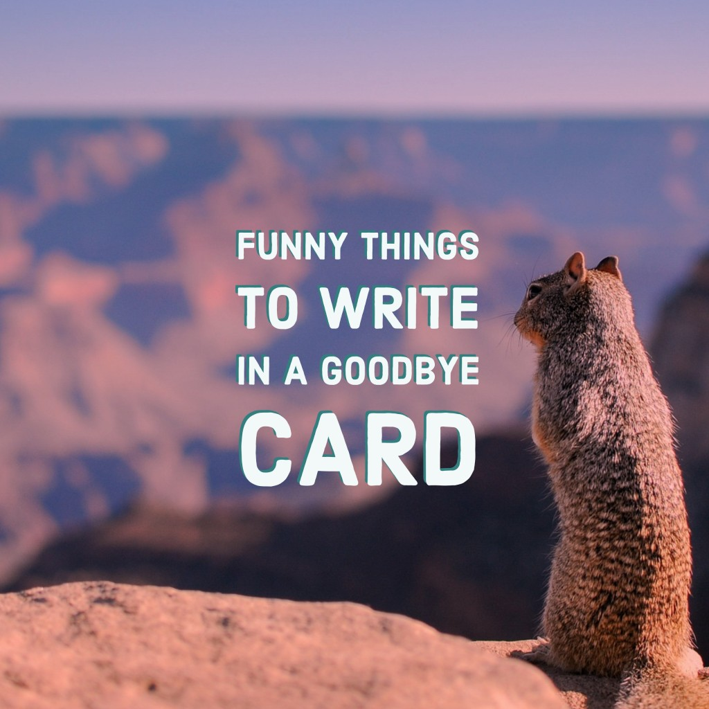 Funny Things to Write in a Goodbye Card  HubPages