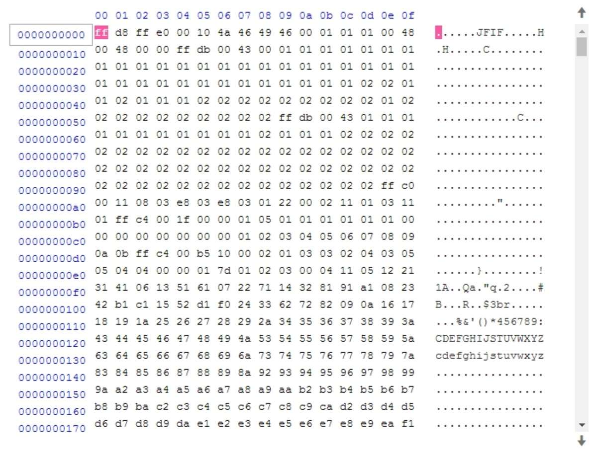 Ascii Table Binary Decimal