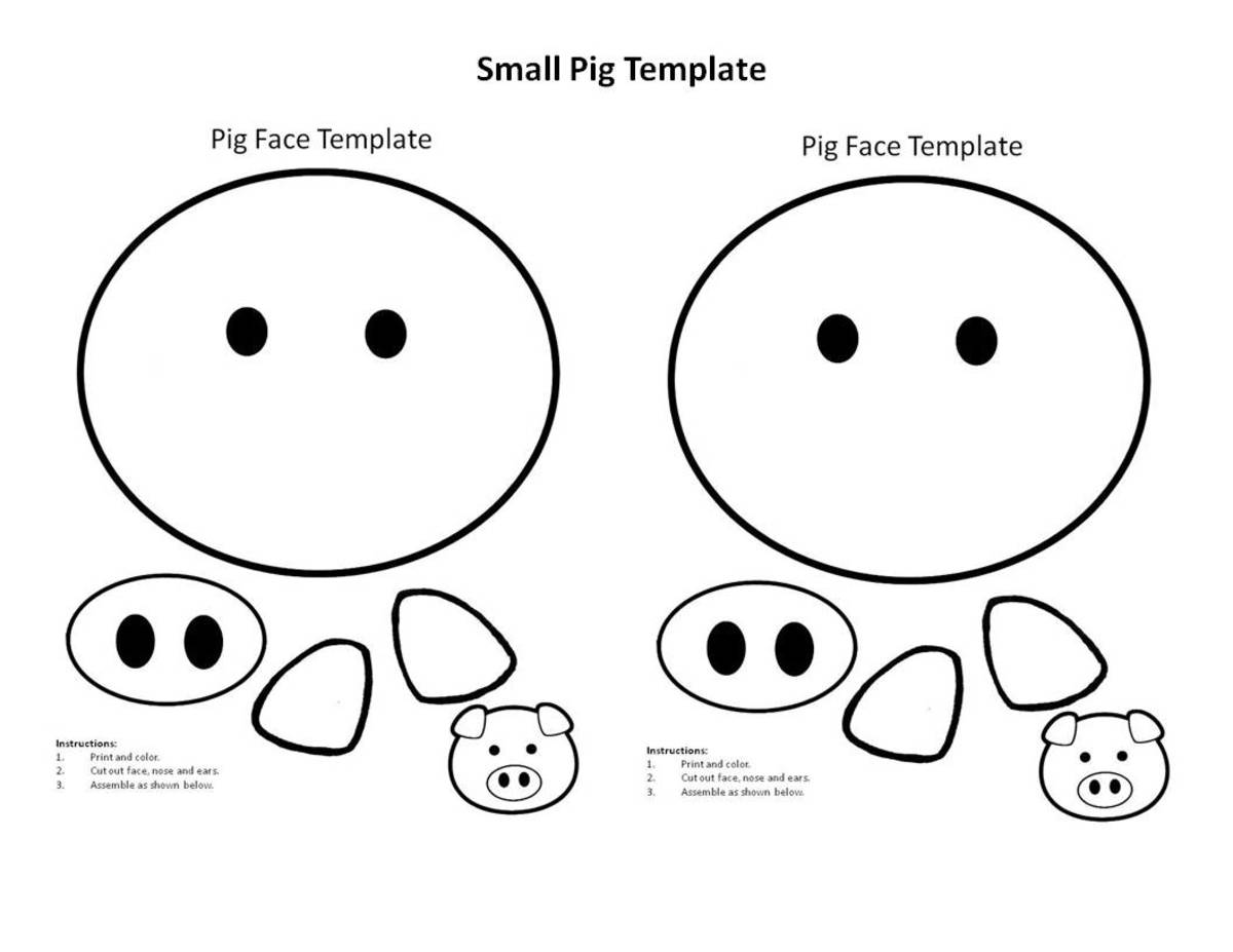 Easy Printable Projects for the Year of the Pig: Kid