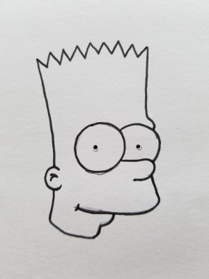 drawing easy simpson draw quick bart pencil drawings simpsons guide nose don clipart