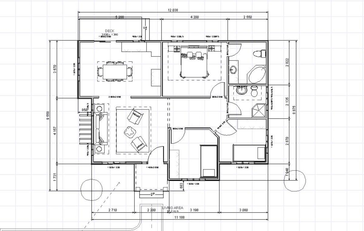 ONE STORY HOUSE PLANS 8m x 10m HOME PLANS DESIGN