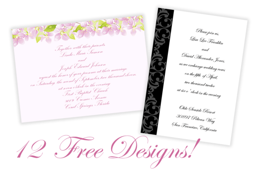 Free Printable Wedding And Commitment Ceremony Invitations