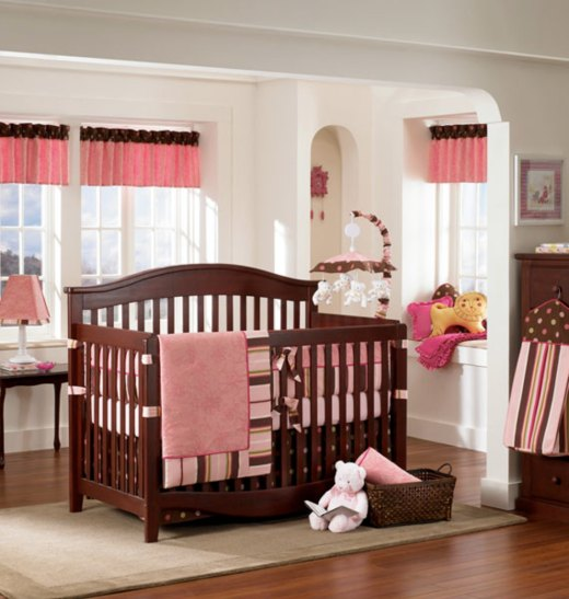 Image Of Pink And Brown Nursery Wall Decor