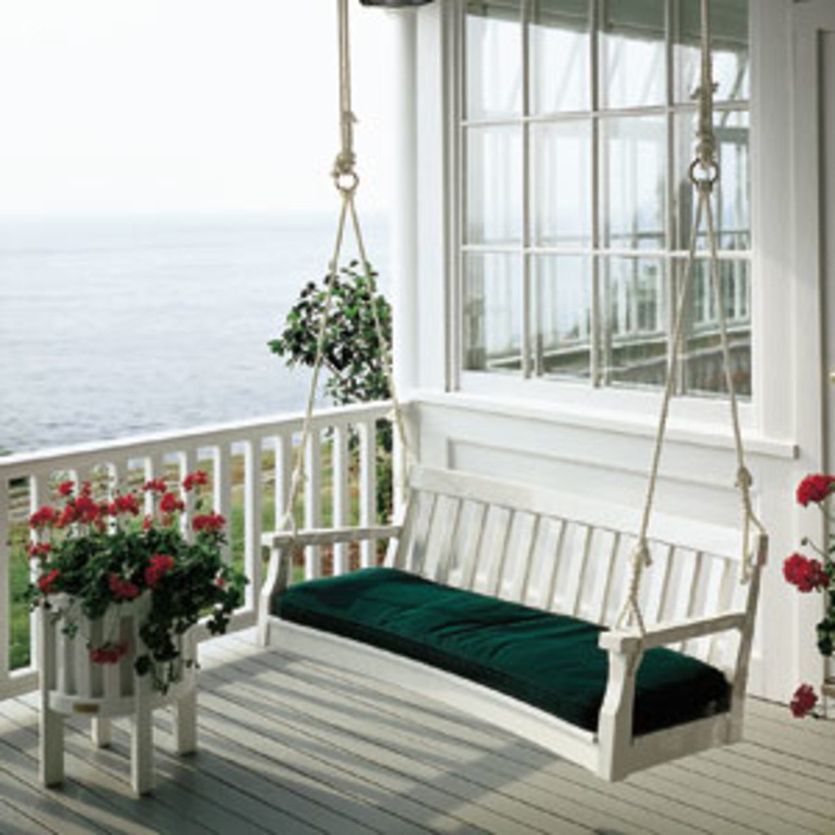 unfinished wood rocking chair justina hanging the fun of cottage style decorating starting with front porch | hubpages