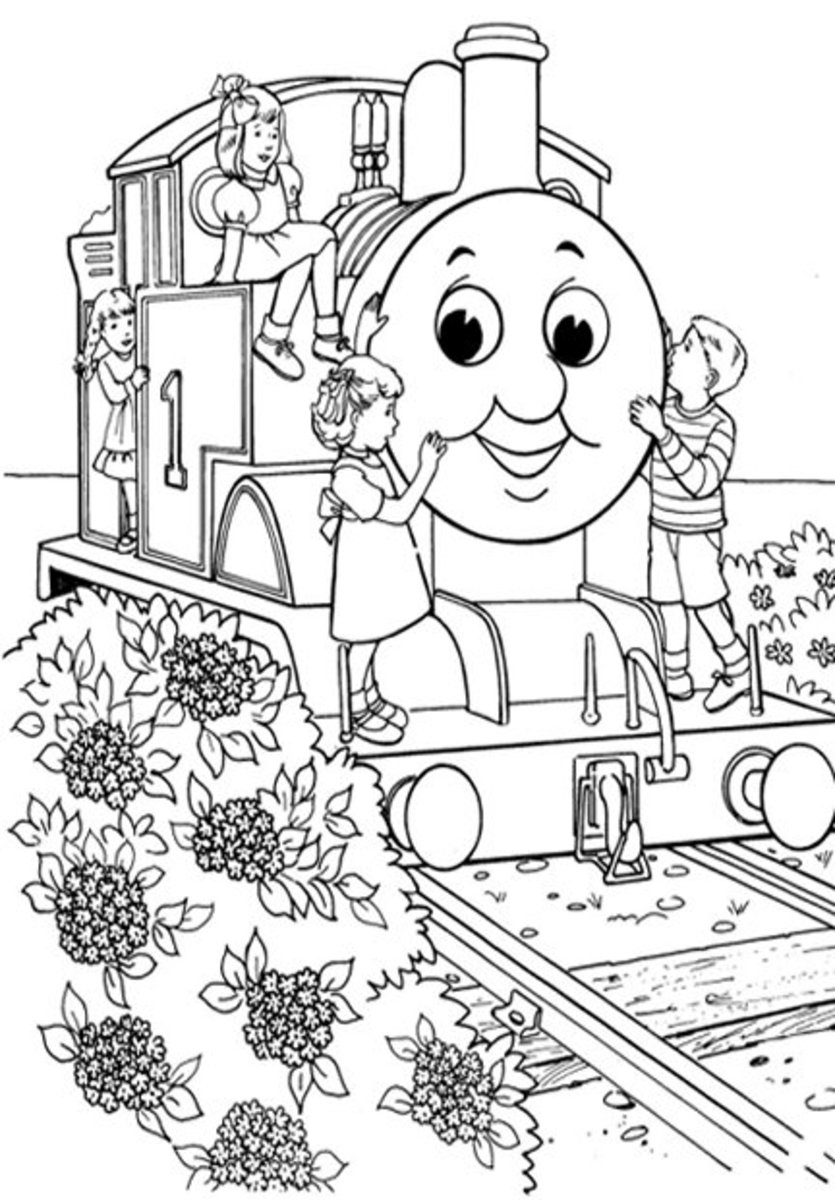 Thomas Tank Engine Train Kids Colouring Pictures to Print