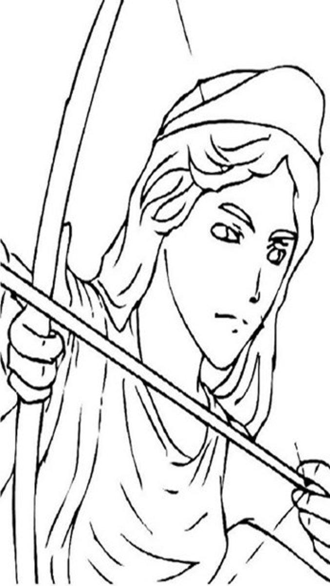 Greek Gods Kids Coloring Pages and Free Goddess Goddesses