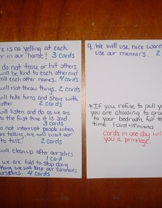 Household rules and good behavior deed cards for children ages also rh wehavekids