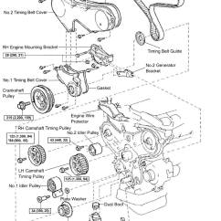 1996 Toyota Corolla Belt Diagram 2004 Jeep Grand Cherokee Brake Light Wiring Diy Timing Replacement Mzfe Engine Camry V6 Avalon 1mzfe Component