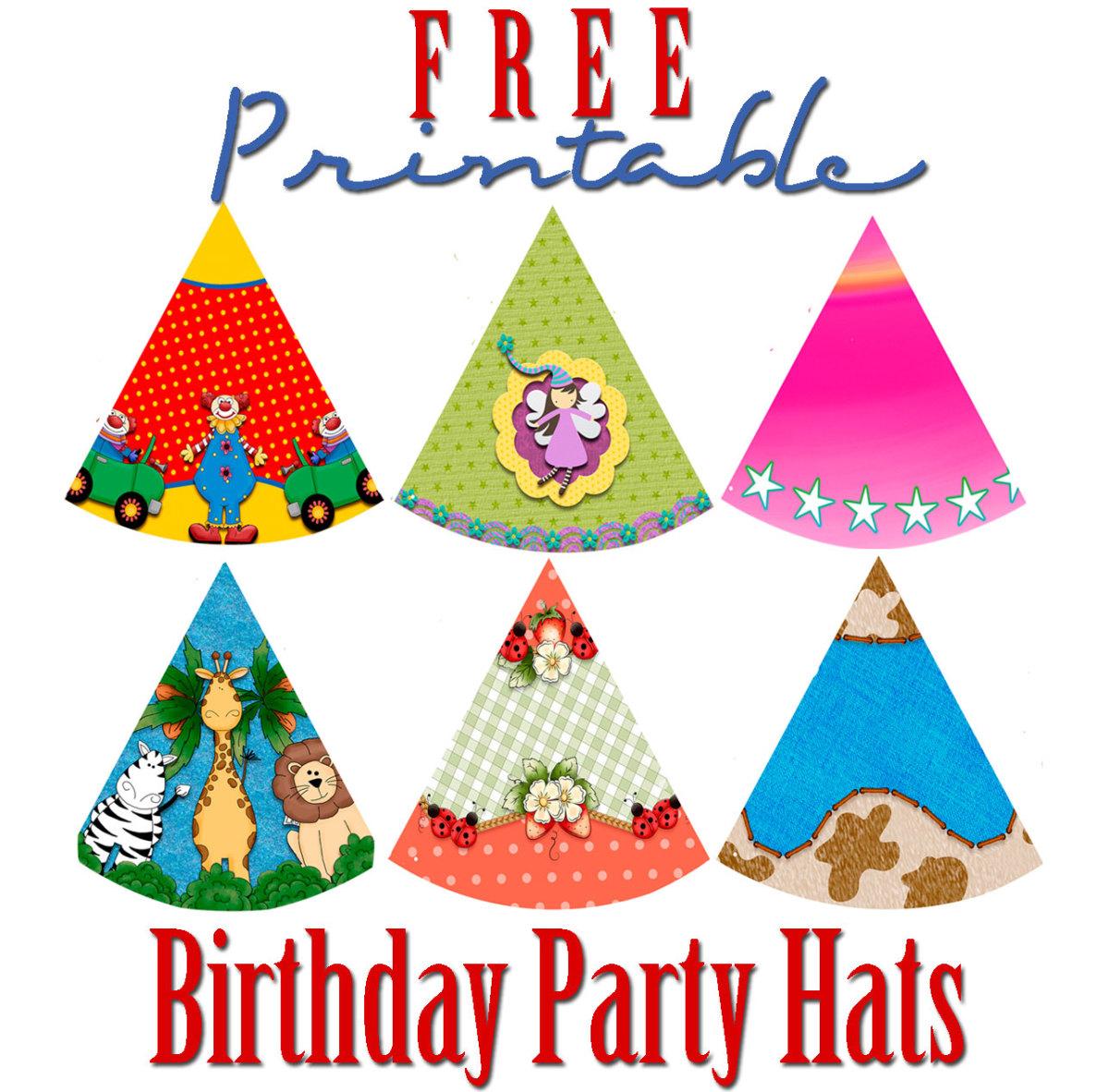 Free Printable Birthday Party Hats