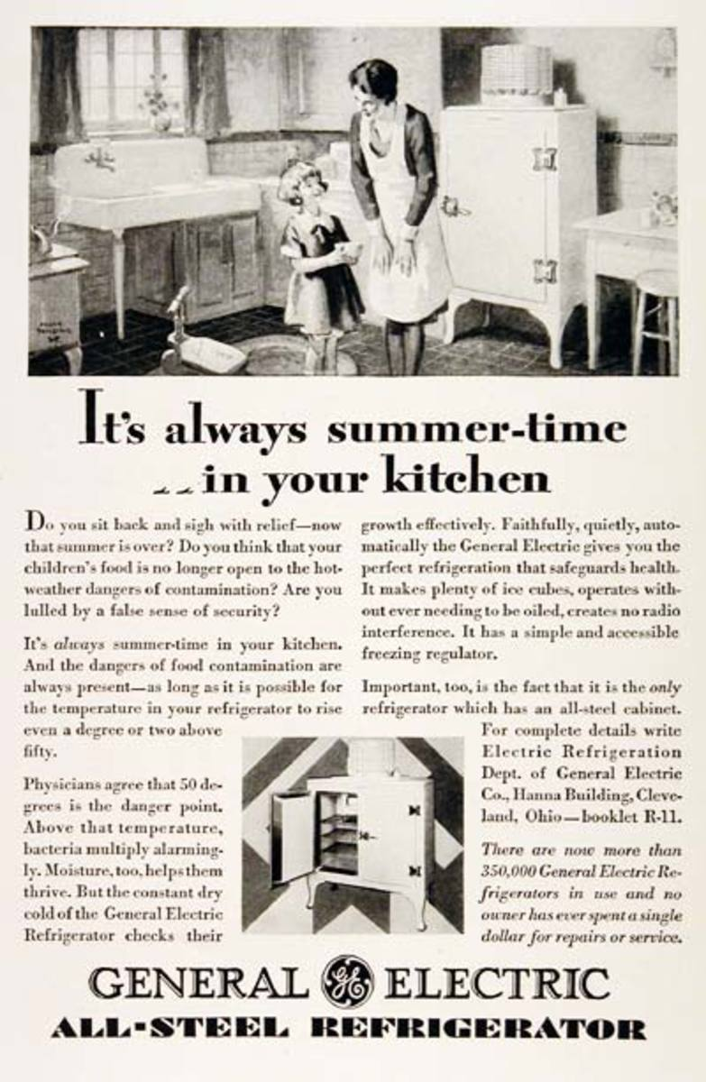 kitchen appliance sales wall tiles design ge monitor-top vintage refrigerator - see ads ...