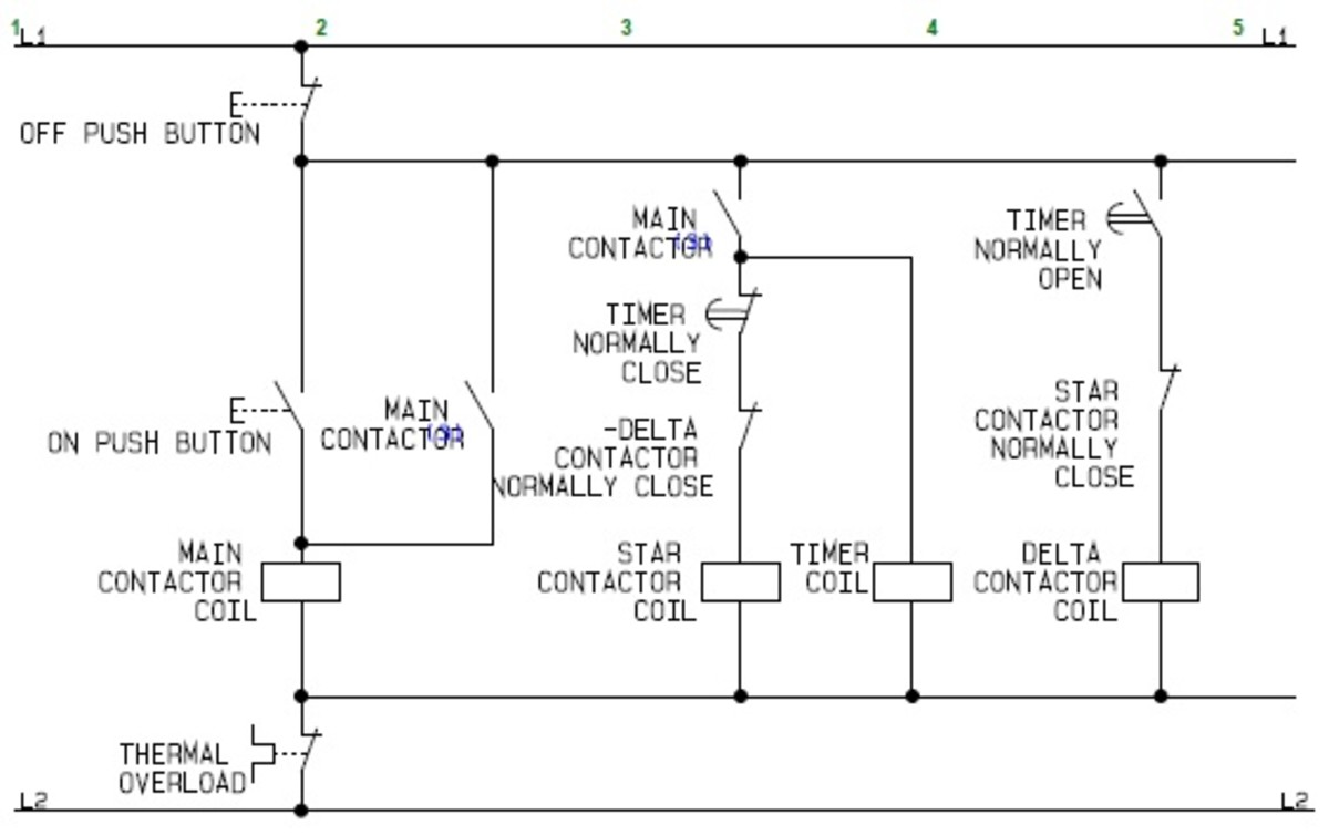 contactor wiring diagram single phase house 240v using star delta motor control with circuit diagrams turbofuture