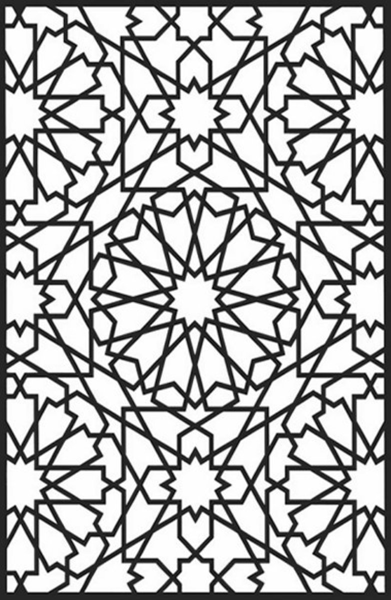 Geometric Design Colouring Pictures Stained Glass