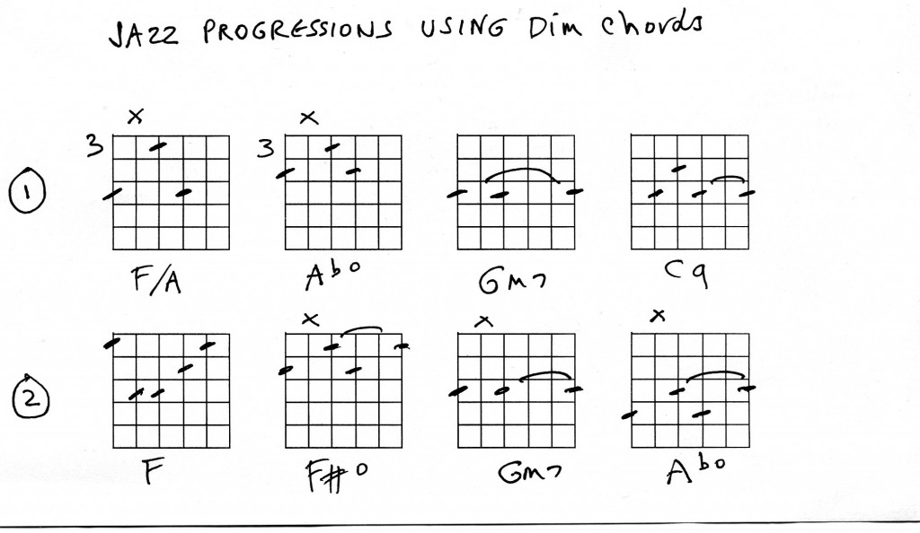 Guitar : jazz chords
