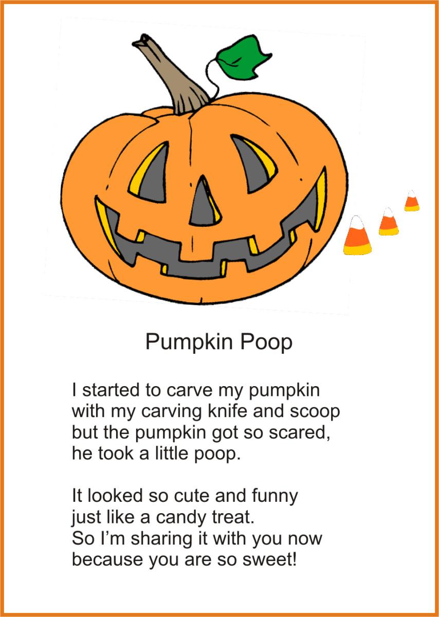 Printable Pumpkin Poop Poem For Halloween