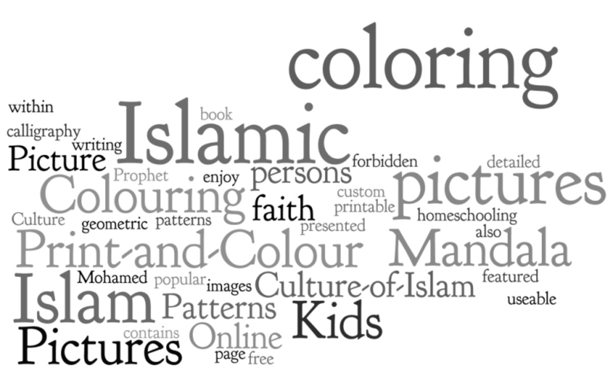 Culture of Islam Kids Colouring Pictures to Print-and