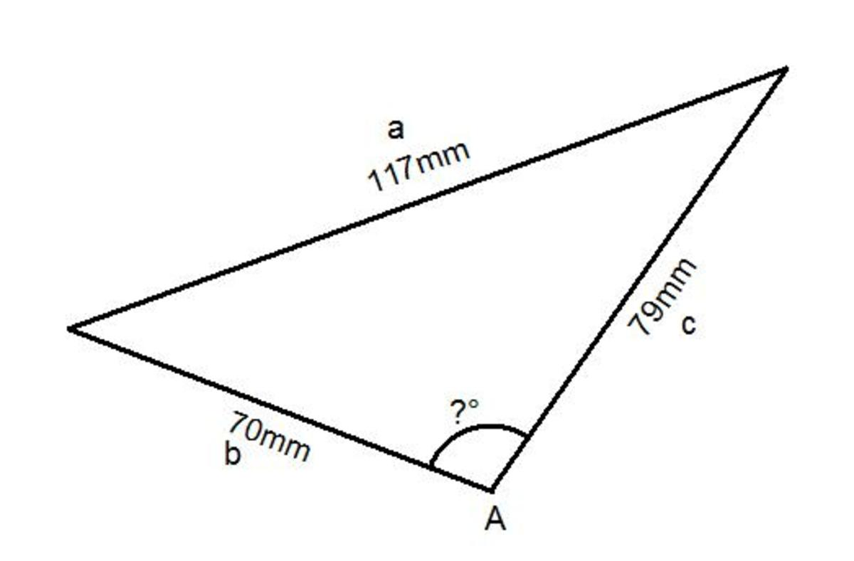 The Cosine Rule. How to Work out an Angle Inside any