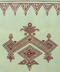 Bheenth Chitra - A unique Indian tribal wall art style ...