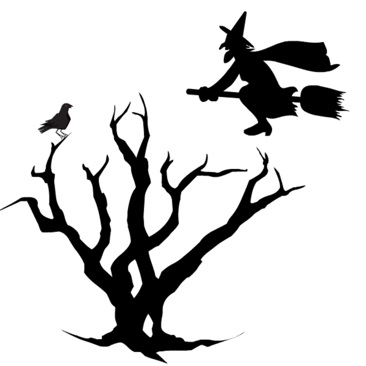 Free Black And White Halloween Clip Art