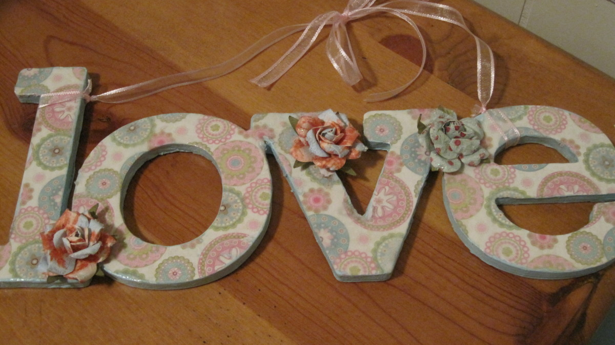How to Decorate Paper Mache and Wooden Letters  HubPages
