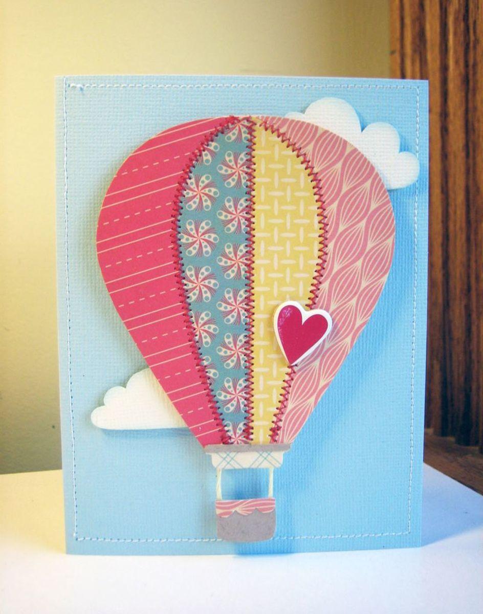 Homemade Hot Air Balloon Greeting Cards Ideas Birthday